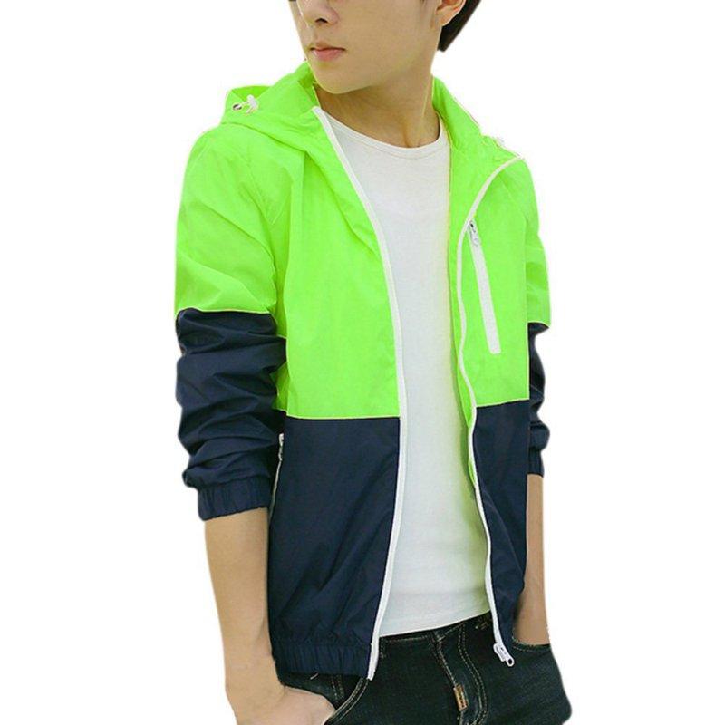 Spring Autumn  Men's Women's Summer Casual Jacket Hooded Jacket Fashion Thin Windbreaker Zipper Coats S-XXXL RT5