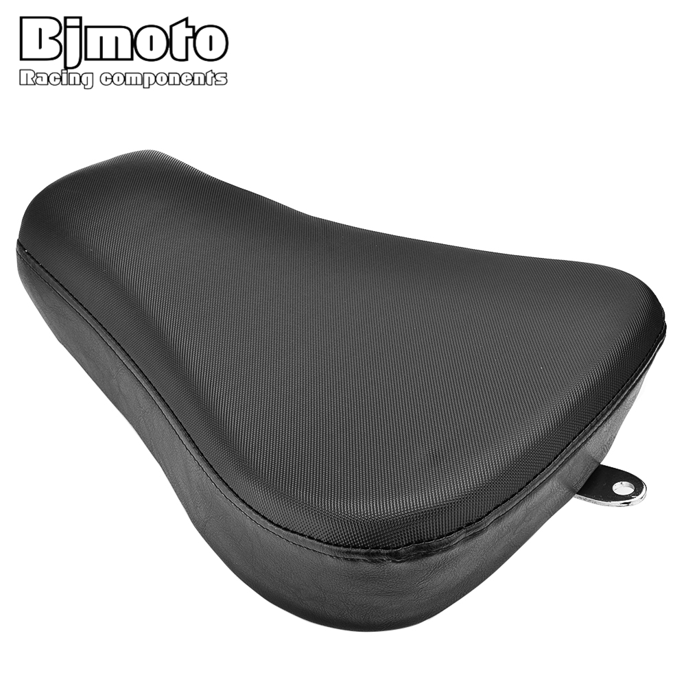 BJMOTO Motorcycle Front Driver Solo Seat Black Rear Cushion Pad For Harley Sportster Iron 883 Motorbikes