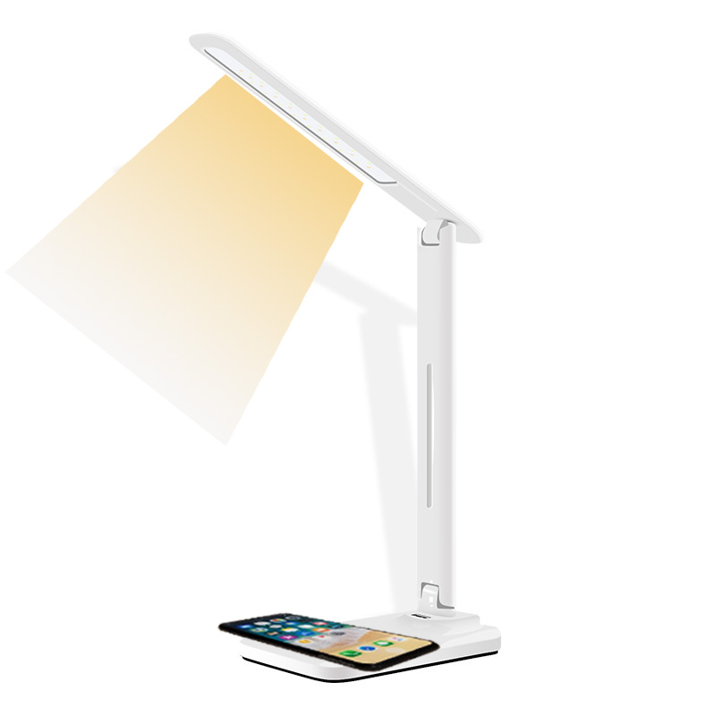 цены Multifunction Table Desk LED Lamp Qi Wireless Charging Pad Cell Phone Charger Holder Stand Foldable Desktop Light for iPhone X8