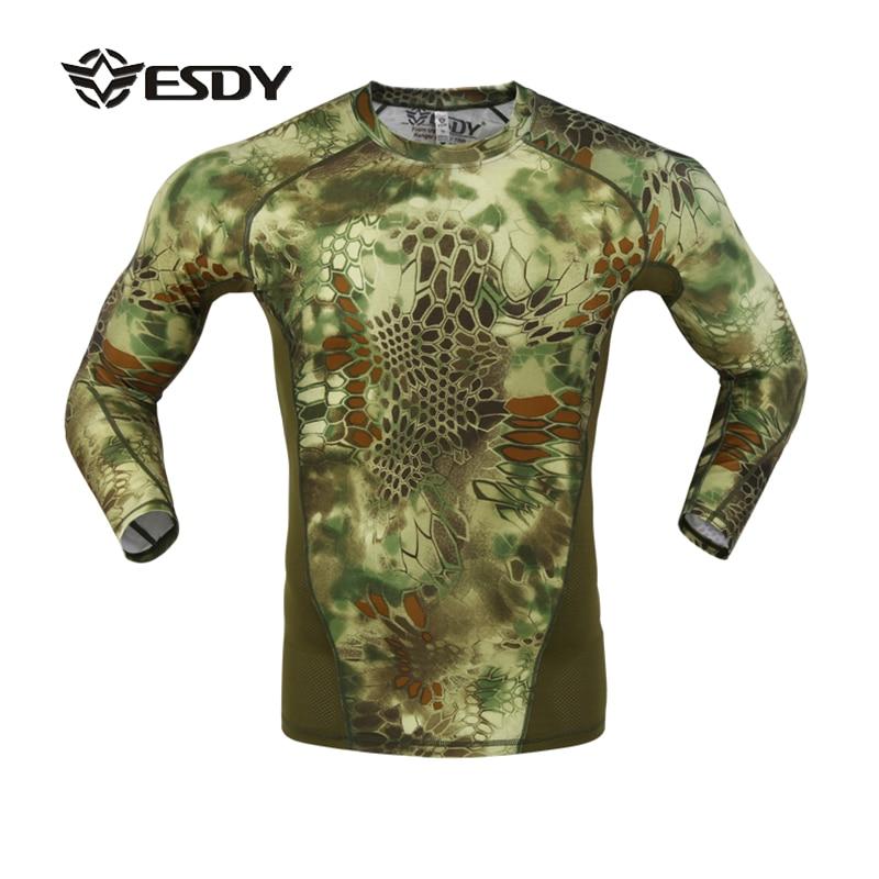 חדש ESDY 2017 רזה פייתון טקסטורה הסוואה - בגדי ספורט ואביזרים