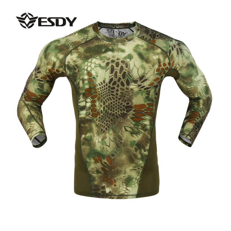Ny ESDY 2017 Skinny Tight Python Texture Camouflage Sträcka - Sportkläder och accessoarer