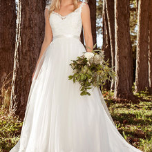 LAYOUT NICEB SHJ775 Sexy Long V Neck Wedding Dresses A-Line