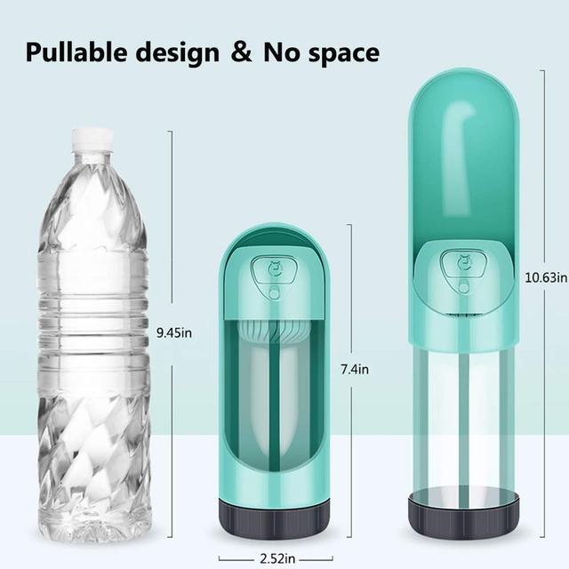 Portable Pet Dog Water Bottle Drinking Bowls   5