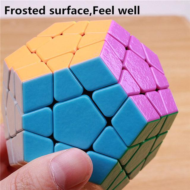 Shengshou MagFoSho Megaminxeds Magic Cube Speed Puzzle Cubes sticker less anti stress toys professional 12 sides cube 3