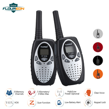 FLOUREON 8 Channel Children Walkie Talkies UHF400 470MHz 2 Way Radio 3KM Interphone PMR Handheld Kid Play Intercom Walkie Talkie