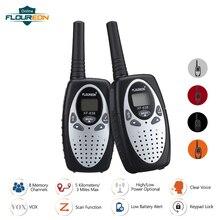 FLOUREON 8 Crianças Canal Walkie Talkies UHF400 470MHz 2 Way Radio 3KM Interphone Intercom Walkie Talkie PMR Handheld do Jogo do Miúdo