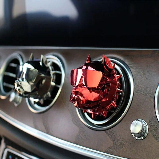 Creative Bulldog Car Perfume Fragrance Car Interior Decoration Clip Car Air Freshener Parfum Voiture Perfume Para Carroa DIY B2