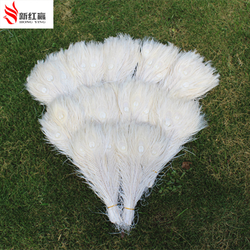 100 PCS Peacock Feather Polegadas Married Beautiful White Feathers Reception Center  Party  Feather Decoration