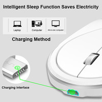 התאורה האחורית 2.4G Wireless נטען LED עם התאורה האחורית מקלדת USB ארגונומי Gaming Mouse סטים (5)