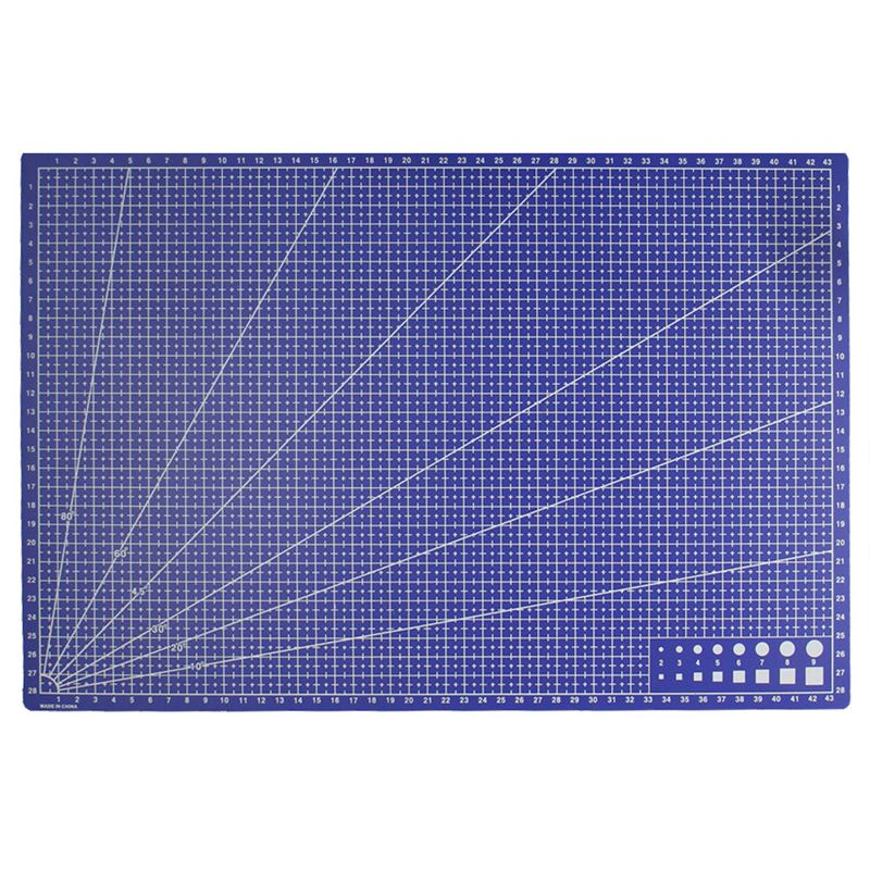 "16/"" x 23/"" GREEN//PURPLE Self Healing 5-Ply Double Sided Durable PVC Cutting Mat"