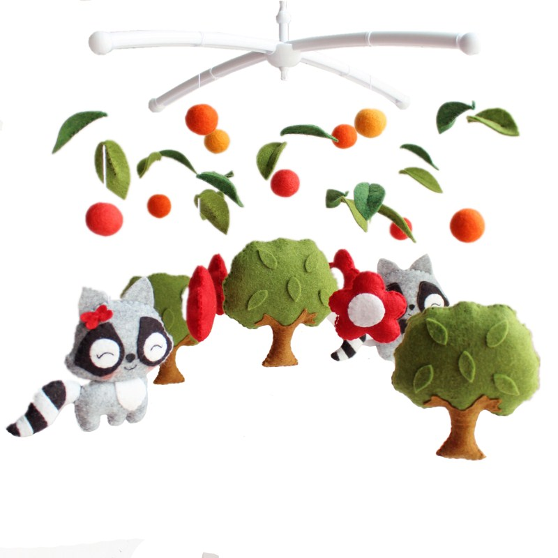 Baby Rattles Sewing Completed Toys For Baby Bracket Newborn Crib Bed Bell Muziek Mobile Bebek Oyuncak Rattles Toys 0-12 Months