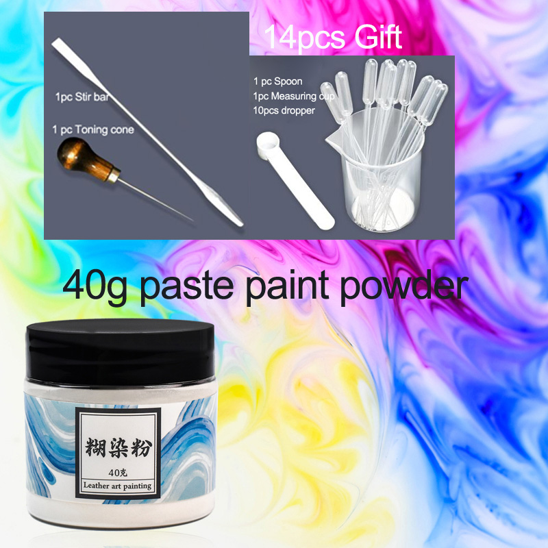 40g Japanese Leather Paste Dyeing Powder  Non Toxic Extension Agent Pastel Painting