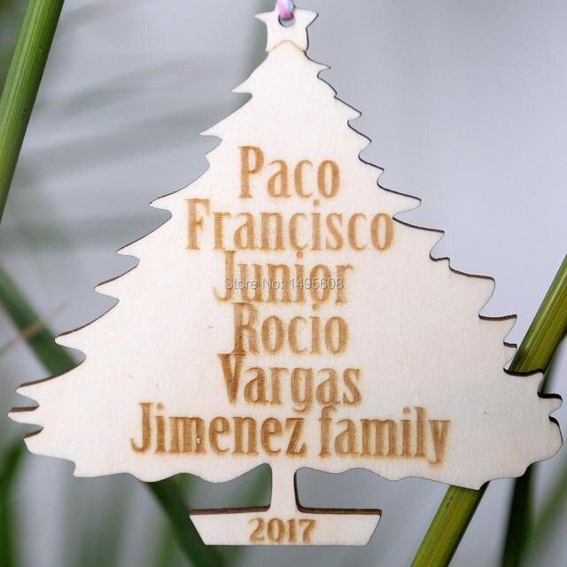 Us 7 64 15 Off Family Christmas Tree Ornament Personalized Christmas Ornaments Custom Wood Christmas Ornament Christmas Decorations Family In