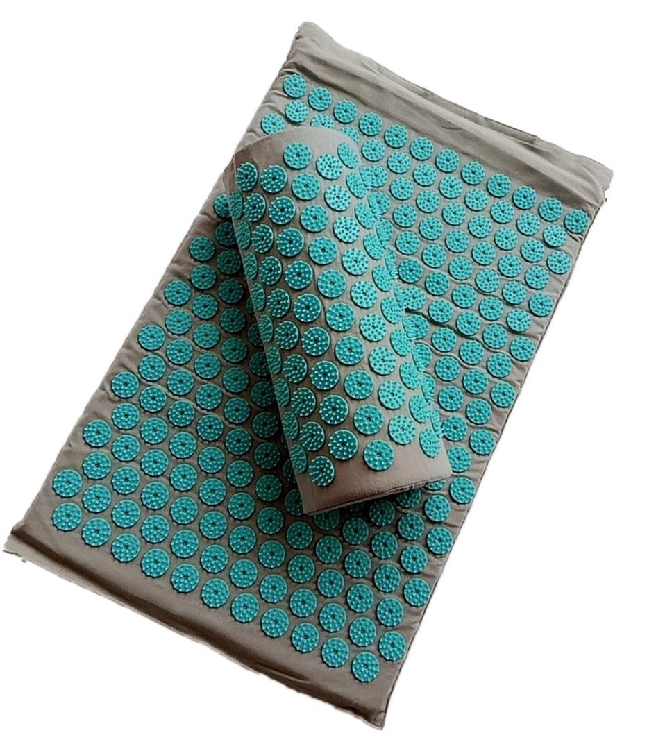 Spike Acupuncture Massage Yoga Mat/Pillow Massager (appro.67*42cm)Acupressure Mat Relieve Back Body Pain Cushion