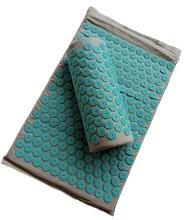 Tappetino Yoga per massaggio con agopuntura a punta/massaggiatore con cuscino (circa 67*42cm) cuscino per digitopressione per alleviare il mal di schiena