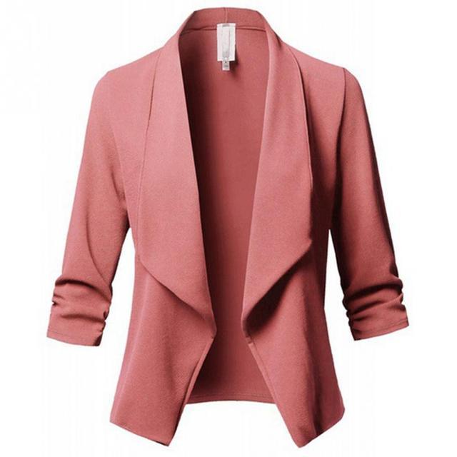 Formal Long Sleeve Open Blazer Top elegant
