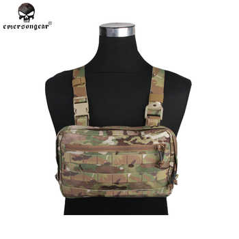 Emersongear Tatcical Bag Military Bag Chest Recon Bag Emerson Chest Rig Molle Nylon Waist Bag Combat Gear EM9285 Multicam - SALE ITEM Sports & Entertainment