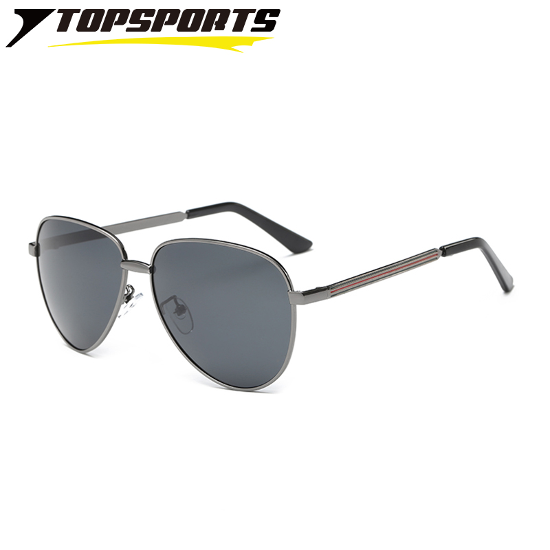 TOPSPORTS Polarized Sunglasses Toad Women Men Aluminum Frame UV400 TAC Mirror Lens Drivi ...