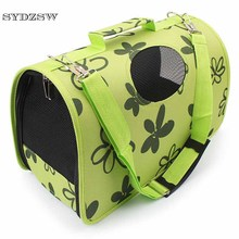 SYDZSW Dog Supplies Small Dog Carrier Puppy Pet Bag for Dogs Cats Beautiful Green Flower Pet Travel Carrier Chihuahua Sling Bag