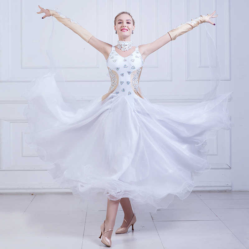 7969f942f New Ballroom Dance Dress Women Waltz Competition Standard Dance Dress Lady  Flamenco Dance Costumes Modern Dance