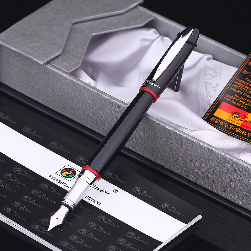 Free Shipping Pimio 907 0.5mm Iridium Nib Luxury Smooth Metal Fountain Pen with Original Gift Box Ink Pens hero 310b metal fountain pen
