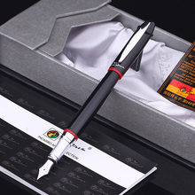 Free Shipping Pimio 907 0.5mm Iridium Nib Luxury Smooth Metal Fountain Pen with Original Gift Box Ink Pens picasso 908 fountain pen f iridium nib or rollerball pen m point black red nib original box free shipping
