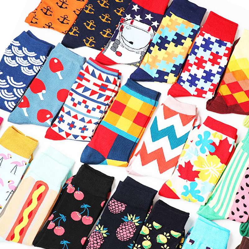 1059207b3525 Cute Happy Socks Pink Women Men Short Cotton Socks With Print Casual  Harajuku Designer Art Female Fashion For Couple Funny Socks