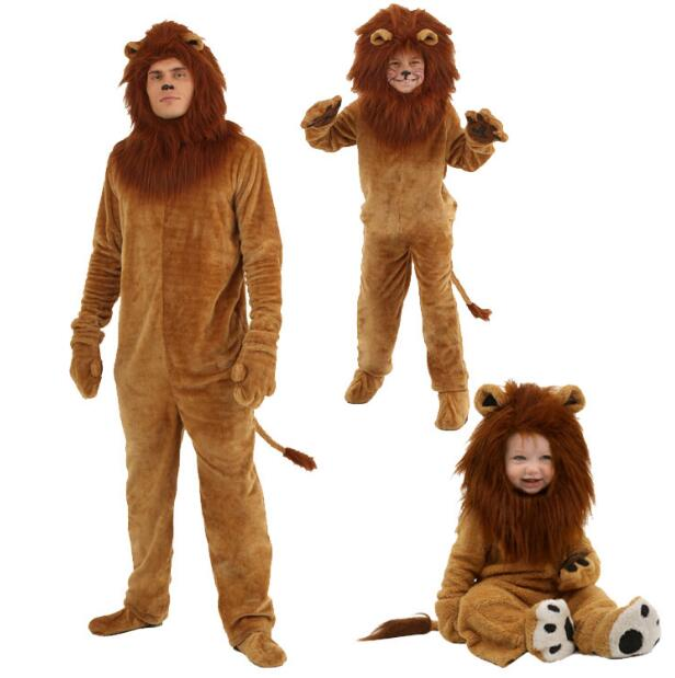 Halloween Kids Adlut Unisex The Wizard of OZ Performance Fancy Dress Long Haired Lions The Lion King Cosplay Costumes Jumpsuits