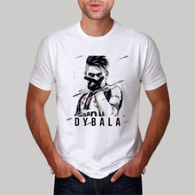 e48bf46b0 hot sale fashion summer style o-neck men t shirt Argentine Paulo Dybala  tshirt polyester