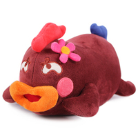 Candice Guo Newest Funny Creative Brown Papa Chicken Plush Toy Big Mouth Pillow Birthday Gift 28cm