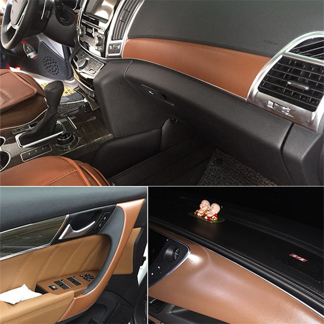 152cm Self Adhesive Pvc Leather Vinyl Wrap For Car Door