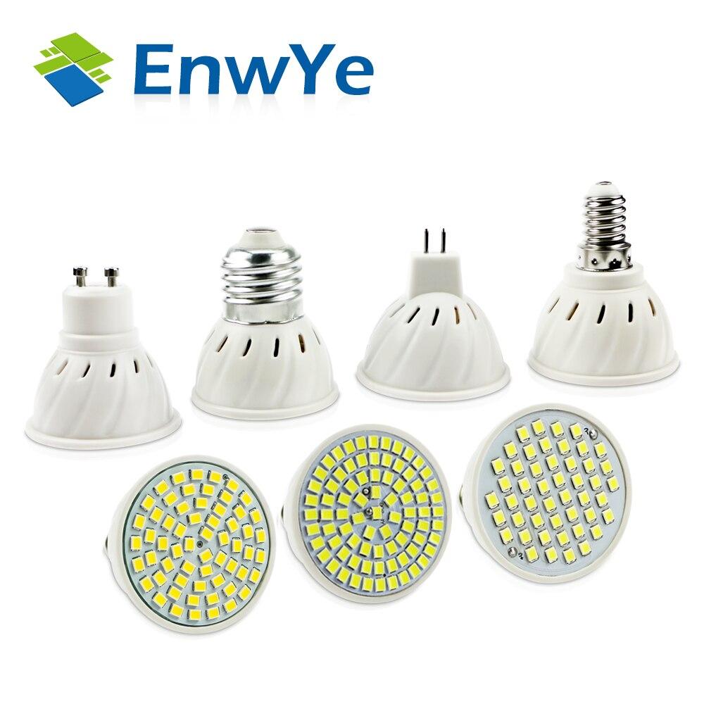 Enwye яркий E27 E14 MR16 GU10 лампада светодиодные лампы 110 В 220 В Bombillas светодиодные лампы 48 60 80 LED 2835SMD Lampara пятно света