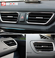 4PCS For KIA RIO K2 2011 2012 2013 ABS Chrome trim air conditioning outlet cover interior decoration ring sticker