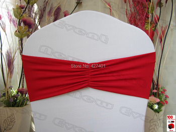 NO.2 Cherry Red Ruffled Spandex Bands/Lycra Band/Expand Bands/spandex chair sash/Chair cover sash For Wedding & Banquet