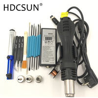 8858 110 V 220 V Draagbare Heteluchtpistool BGA Rework Soldeer Station Hot Air Blower Heat Gun Intelligente detectie en cool air