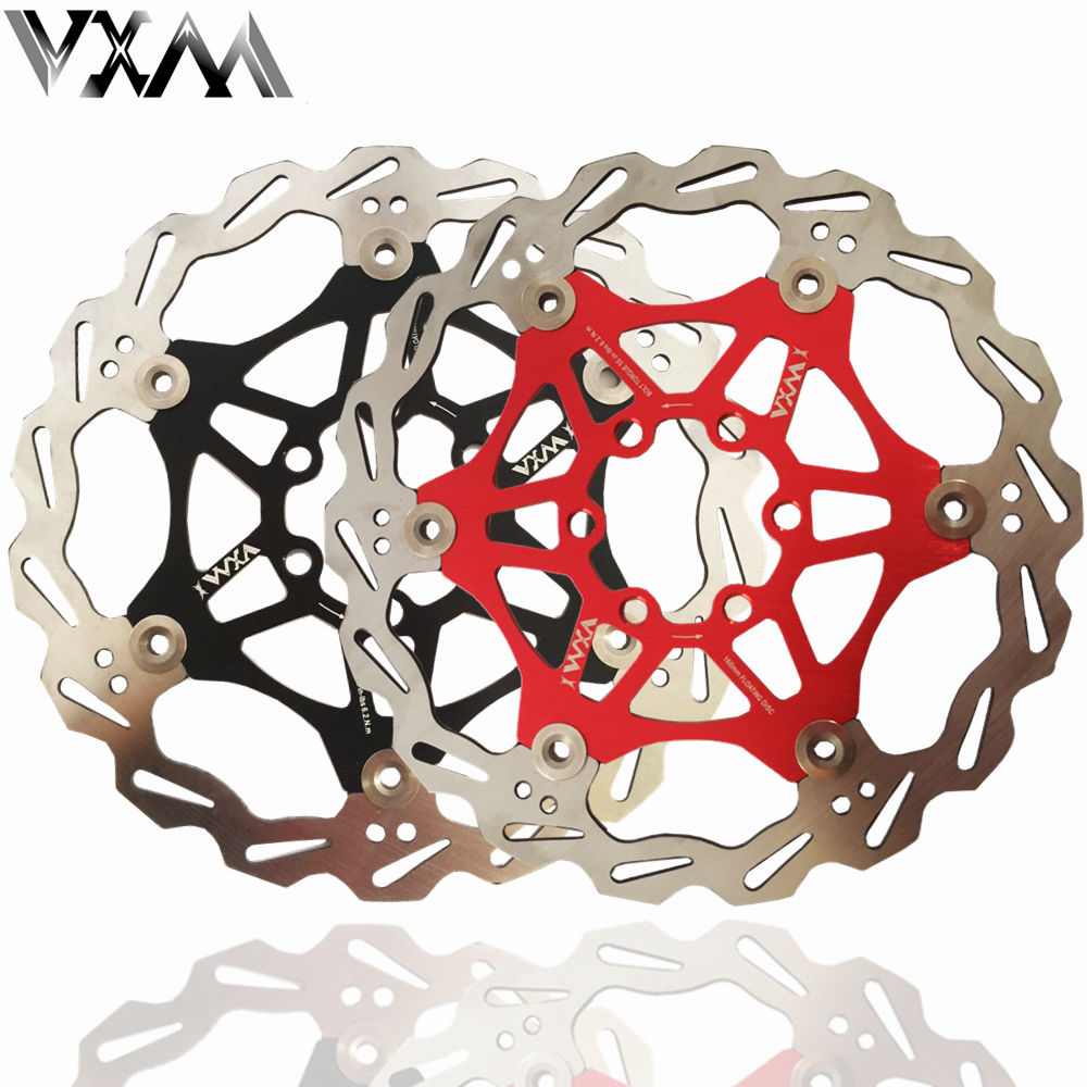 цена на VXM Bicycle Disc Brake DH Brake Float Floating Disc Rotors r 160mm 6 Red/Black for MTB Bike Hydraulic Disc Brake Bicycle Pads