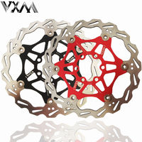 1pcs Bicycle Bike MTB DH Brake Float Floating Disc Rotors R 160mm 6 Red Blue Black