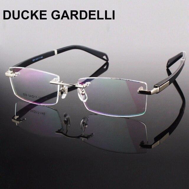 e165518fc75f DUCKE GARDELLI Rimless Glasses Frame Rim Spectacles Men Myopia Eyeglasses  TR90 Optical Frame Prescription Eyewear Frames gafas