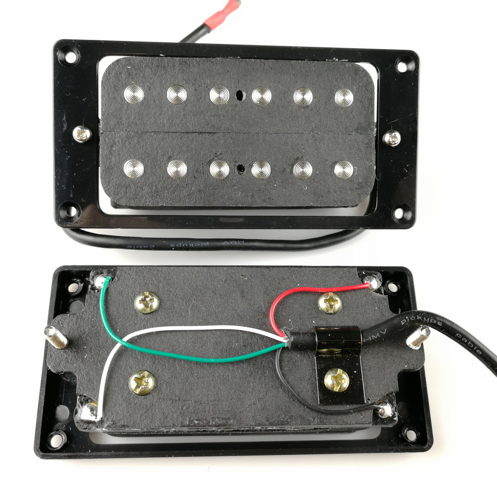 Humbueker Double Row Open Electric Guitar Humbucker Pickups Set Black Made In Korea цена
