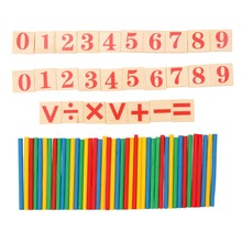 Baby Math Toy Wooden Counting Sticks Educational Toys Gift Kids Early Learning Number Counting Math Stick