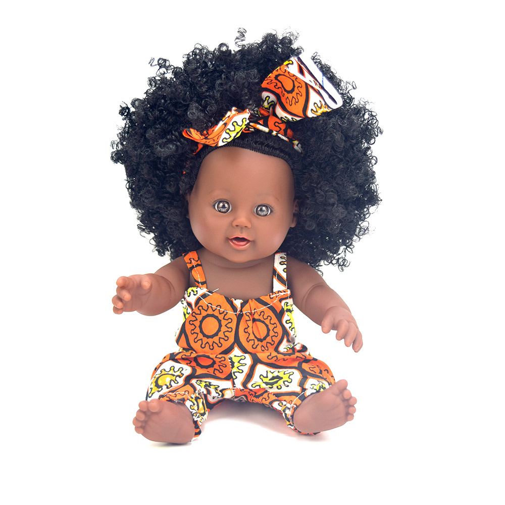 African Black Baby Doll For 2 3 4 Year Old Girls Toddlers -1430