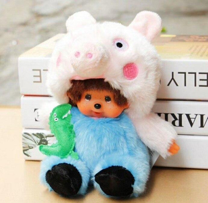 2018 new 20cm Super Kawaii Monchichi Plush Dolls Stuffed Soft Monchichi Doll for Children Gifts free shipping kawaii 30cm soft girl monchichi plush doll stuffed toy for children girl boy gift
