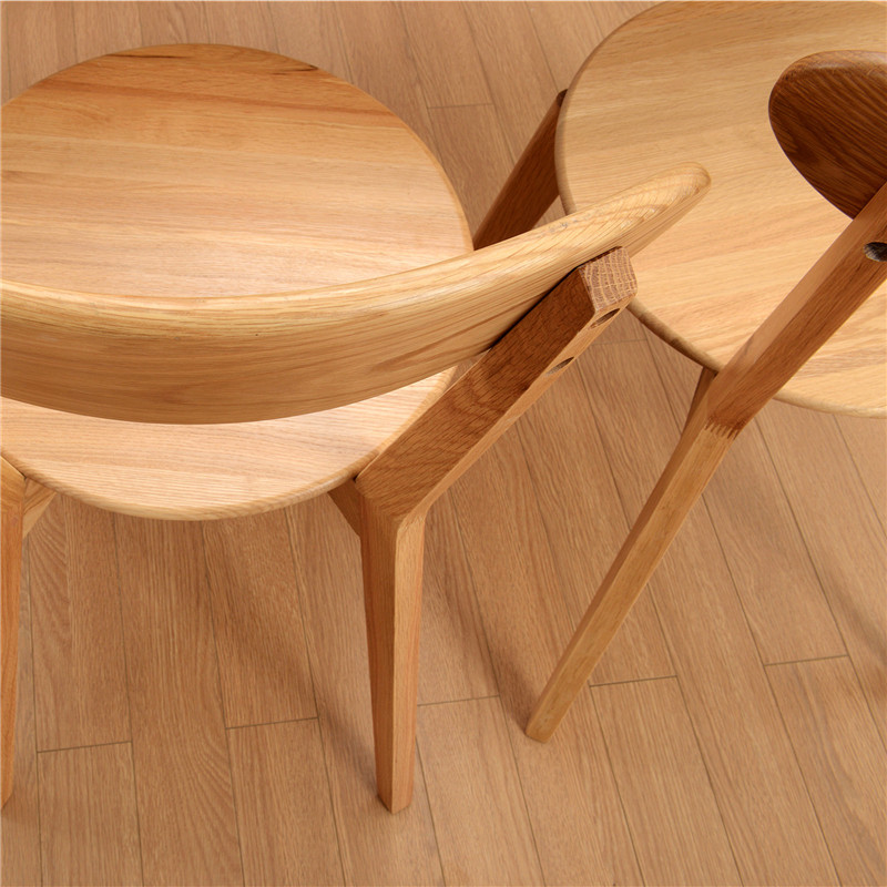 Ch902 North American Imports Of White Oak Chairs Solid Wood Chair Dining The Small Family Northern Europe Leisure In From