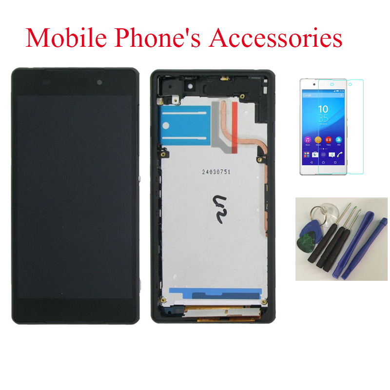 OEM LCD Display Touch Screen Digitizer + Frame Assembly For Sony Xperia Z2 D6502 D6503 D6543 Black With Free Tools