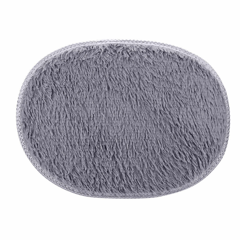 2019 новый круглый мягкий ковер 30*40 см Противоскользящий пушистый мохнатый ковер для дома, спальни, ванной напольный коврик искусственный коврик