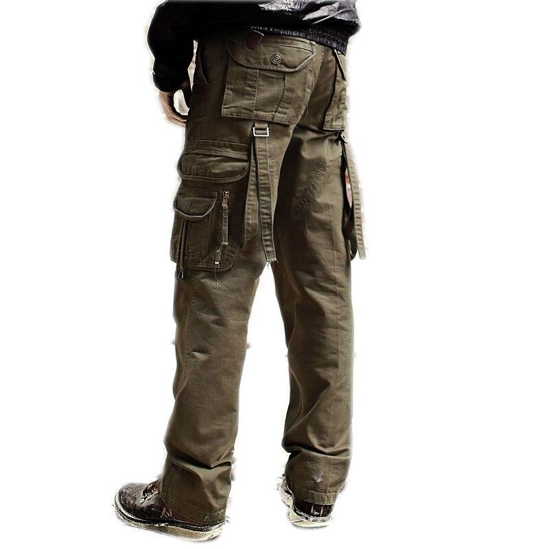 2016 Top Mode Multi-tasche Feste Für Männer Cargohose Mann Tarnung Militärcamo Hosen Freizeithosen Plus Größe 28-40 Jungen Kleidung