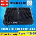 Седьмого Поколения Кабы Озера Intel Core i7 7500U Barebone Безвентиляторный Игры Мини ПК с Windows 10 Linux HTPC TV Box UHD 4 К Микро Настольный Компьютер