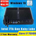 Gen kaby lago intel core i7 barebone fanless 7500u gaming mini PC Com Windows 10 Linux HTPC TV Box UHD 4 K Micro Computador Desktop