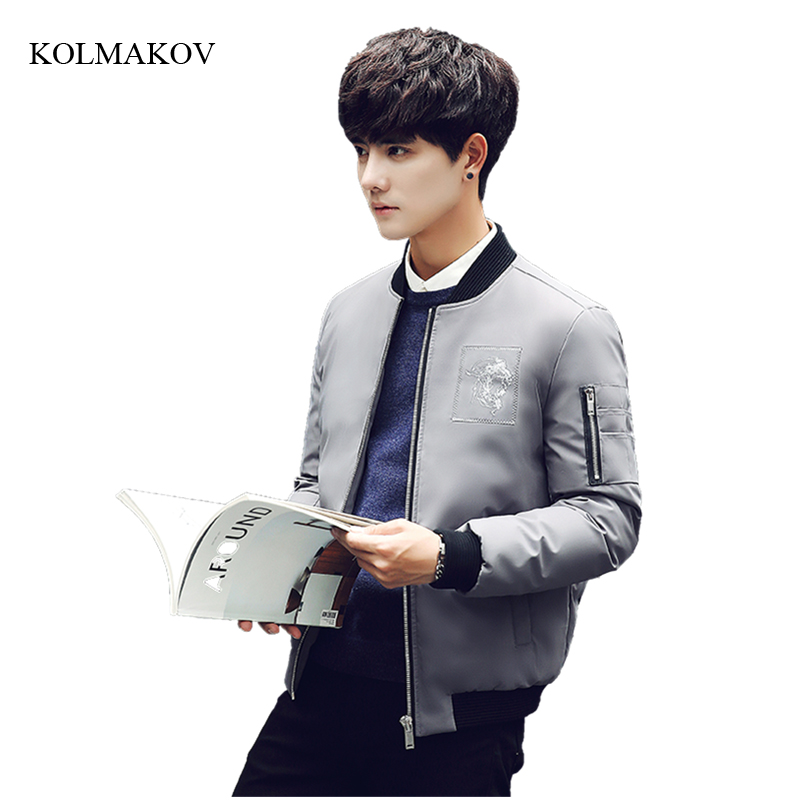 New winter style men fashion short down coats high quality solid stand collar jacket mens thick white duck down coat size M-3XL