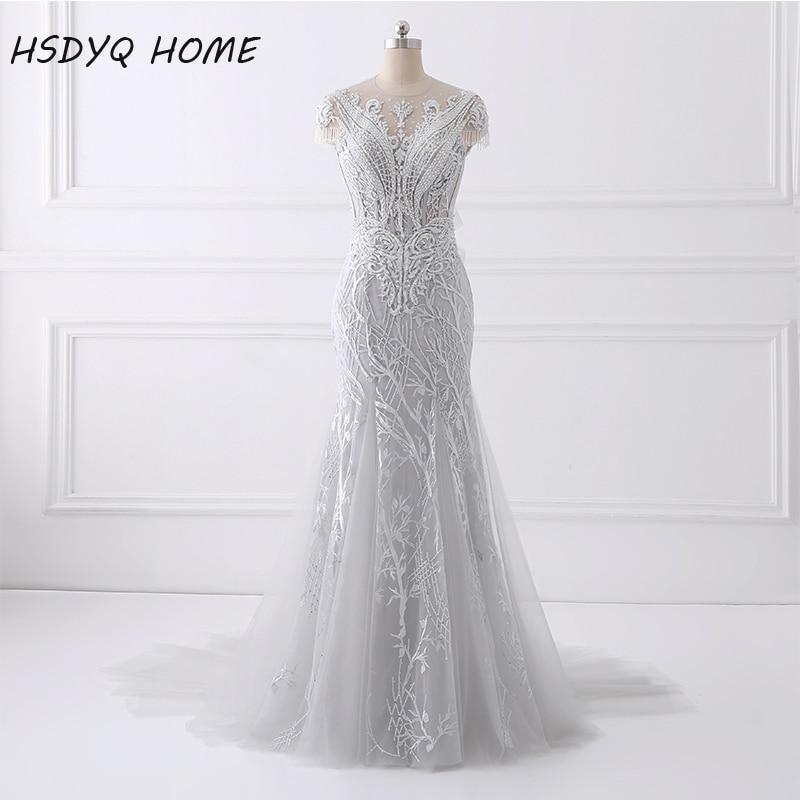 2017 Printemps Été Sexy Sirène De Bal Robes de Soirée longue de conception Robe Nouveau Design Incroyable Partie robe perles robe De Soirée